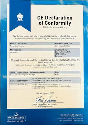 CE-Konformitätserklärung zu ultramask